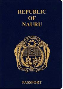 cover nauruan passport