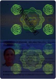 nauruan passport uv