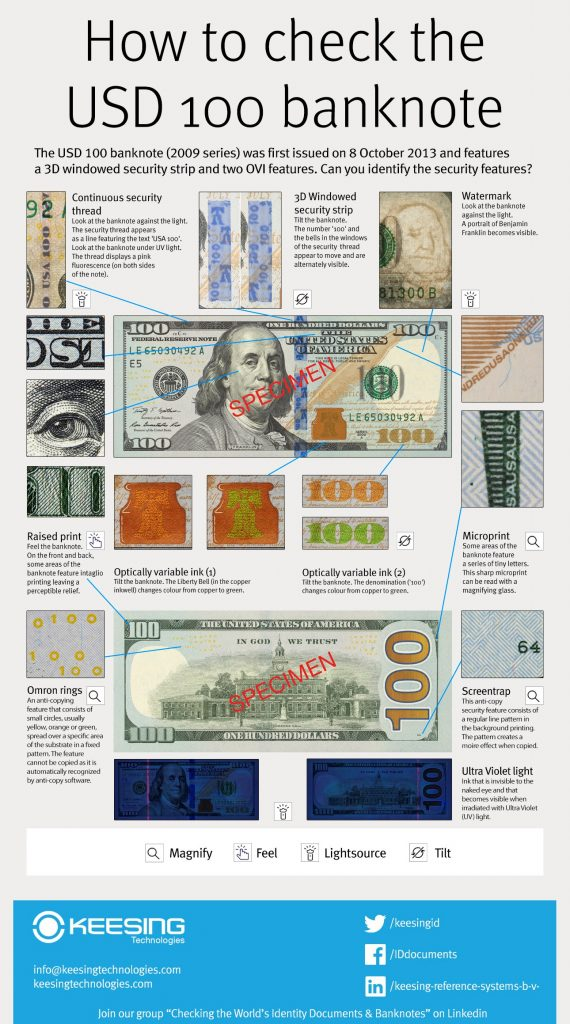 Infographic Dollar bill