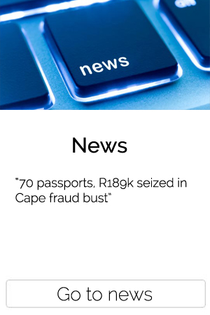 70 passports, R189k seized in Cape fraud bust