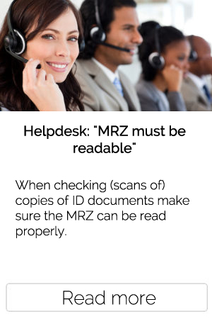 When checking (scans of) copies of ID documents make sure the MRZ can be read properly.