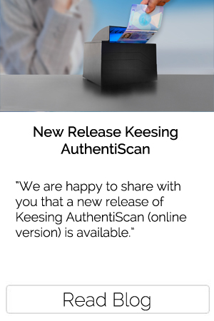 New release keesing automated ID checks authentiscan