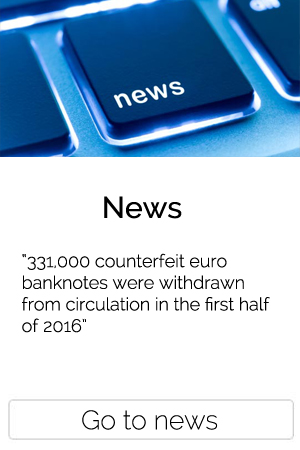 331,000 counterfeit euro banknotes were withdrawn from circulation in the first half of 2016
